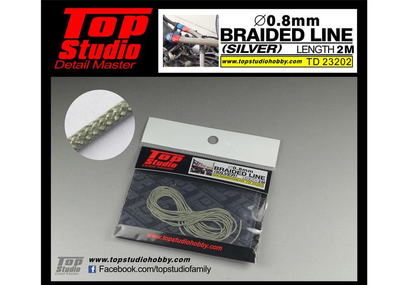 TOP STUDIO TD23202 0.8mm braided line(silver)