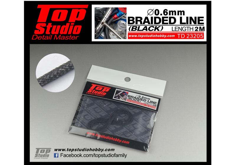 TOP STUDIO TD23205 0.6mm braided line(black)
