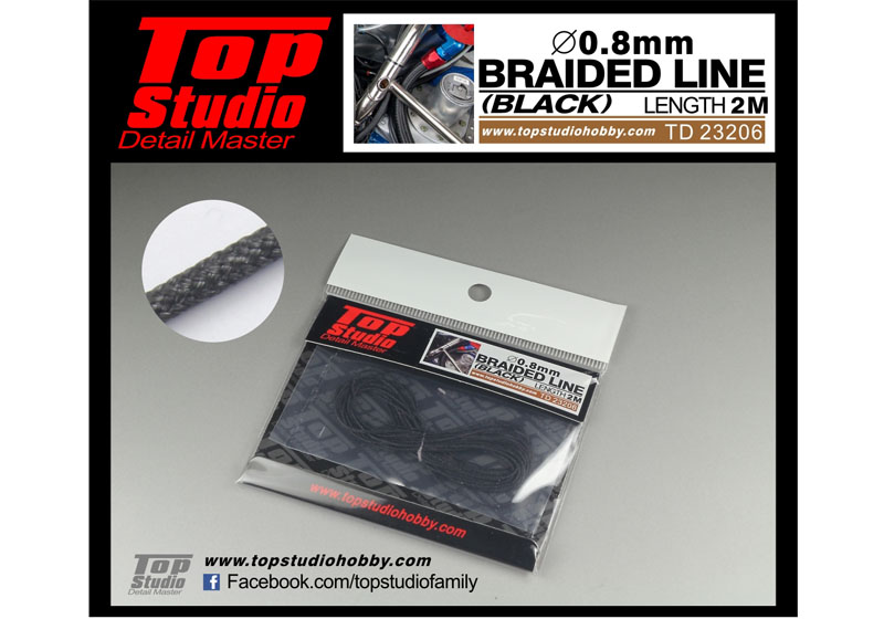TOP STUDIO TD23206 0.8mm braided line(black)