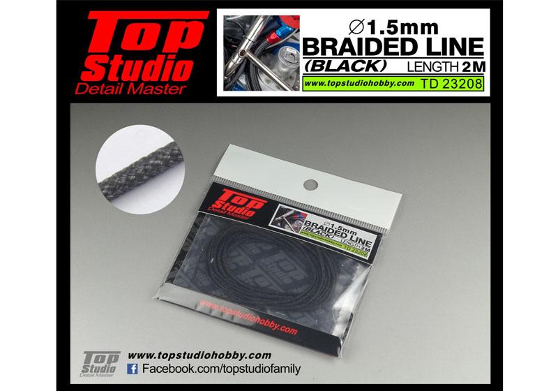 TOP STUDIO TD23208 1.5mm braided line(black)
