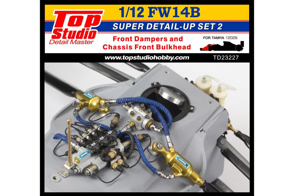 TOP STUDIO TD23227 1/12 Williamus FW14B Super Detail-up set 2 - Furont Damper & Bulkhead