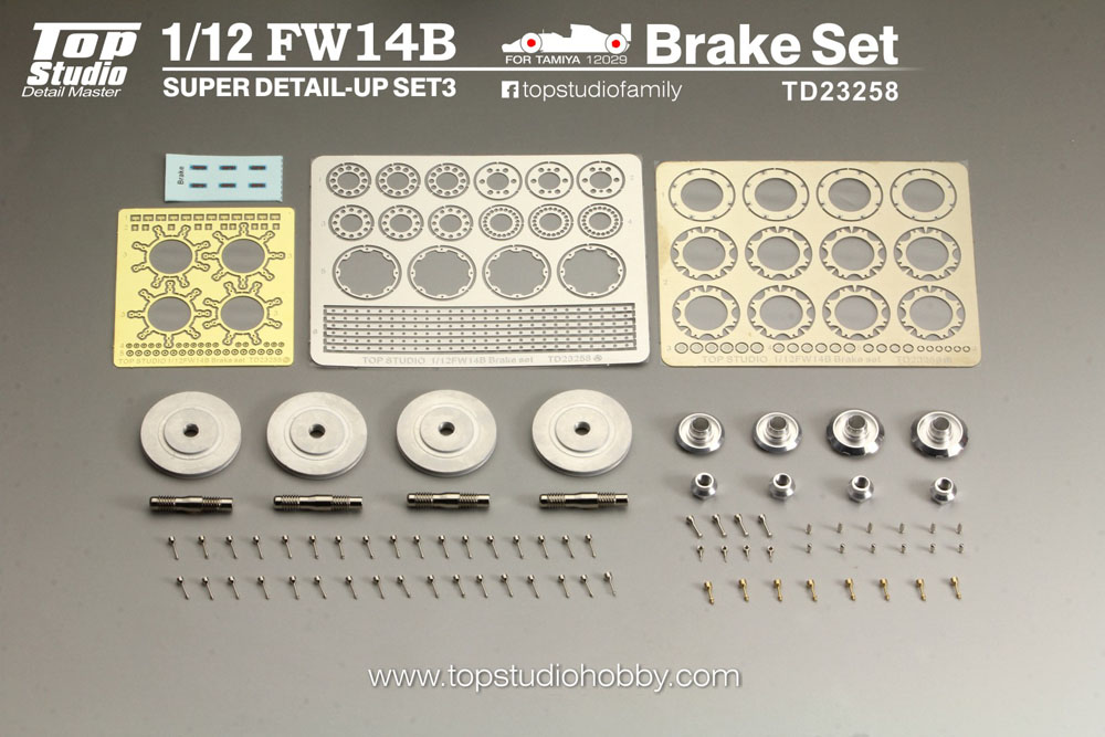 TOP STUDIO TD23258 1/12 Williamus FW14B Super Detail-up Set 3 - Brake Set