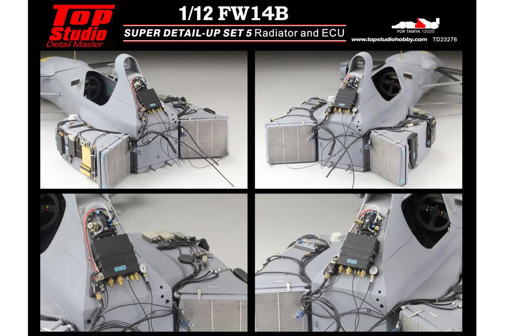 ** 再入荷待ち ** TOP STUDIO TD23276 1/12 Williamus FW14B Super Detail-up Set 5 - Radiator & ECU