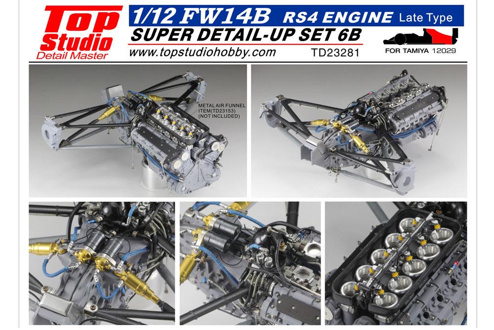 ** 予約商品 ** TOP STUDIO TD23281 1/12 Williams FW14B Super Detail-up Set 6B - Engine RS4 (Late Type)