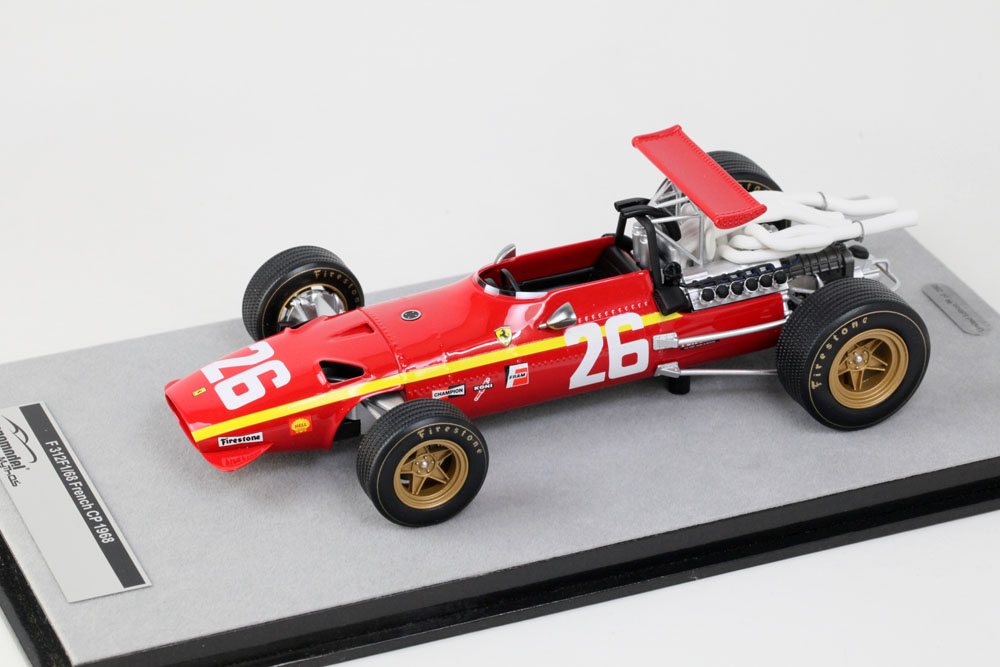 Tecno Model TM18-132A 1/18 Ferrari 312F1/68 French GP 1968 #26 Jacky Ickx Winner
