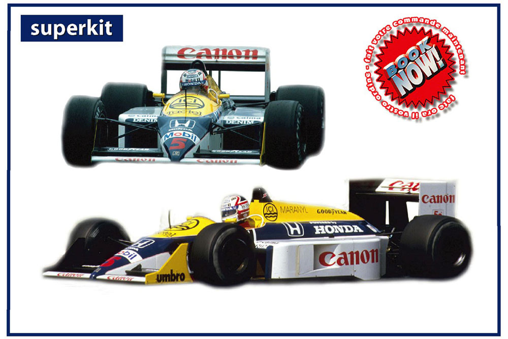 TAMEO kit TMK438 Williams Honda FW11B British GP 1987 N.Mansell (Winner) / N.Piquet