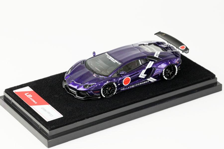 Timothy&Pierre 1/64 LB Works Aventador Metallic Purple Limited 999pcs
