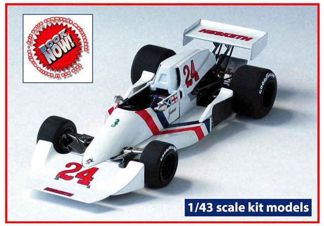 TAMEO TWU007 Hesketh Ford 308C Italia GP 1975 J.Hunt
