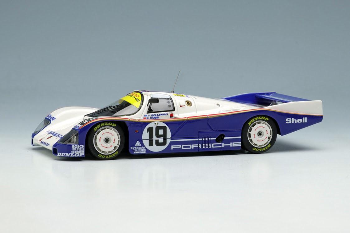 VISION VM046C Porsche 962C Team Porsche Le Mans 1987 Practice No.19 Limited 100pcs
