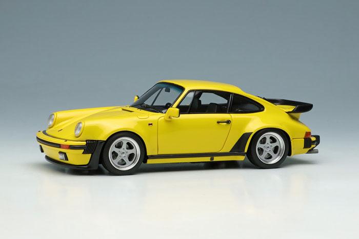 VISION VM215D Porsche 930 Turbo 1988 [Ruf Wheel] Speed Yellow Limited 60pcs