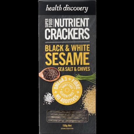 スーパーフードクラッカー Black & White Sesame