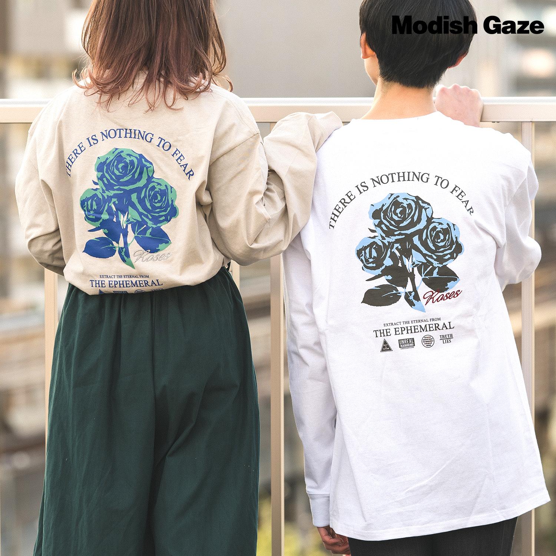 【2021梅春新作】20/-OE天竺 ロンT(薔薇) ストリートカジュアル通販RAD CHAMP
