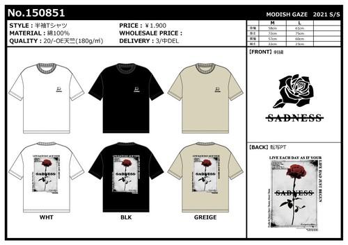 【2021春夏新作】20/-OE天竺 半袖Tシャツ(ローズ グラフィック) ストリートカジュアル通販RAD CHAMP