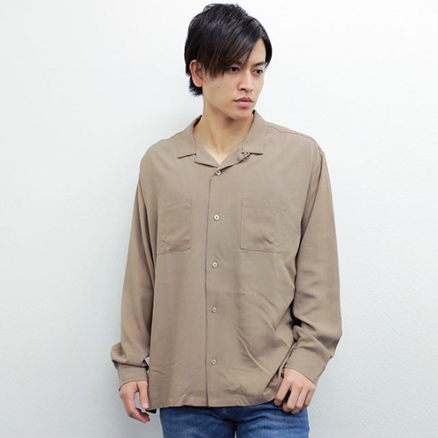 【2017秋冬新作】レーヨン 長袖オープンカラーシャツ|ストリートカジュアル通販RAD CHAMP