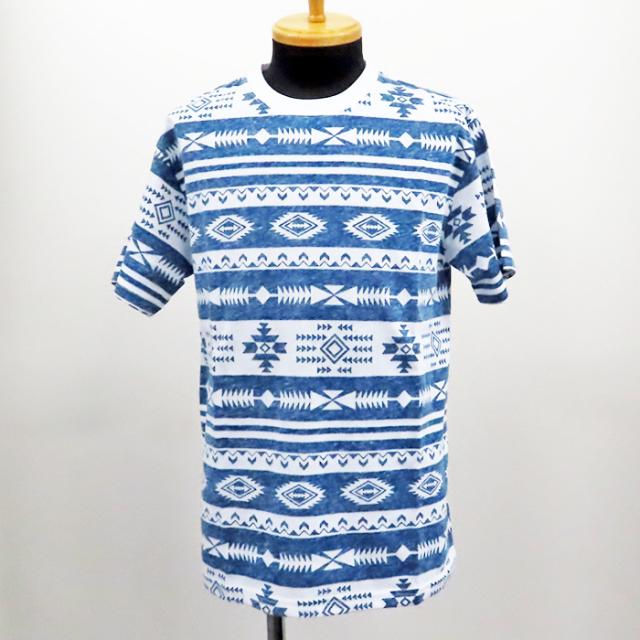【2019春夏新作】20/-天竺 裏刷り総柄Tシャツ(幾何学) 30枚セット