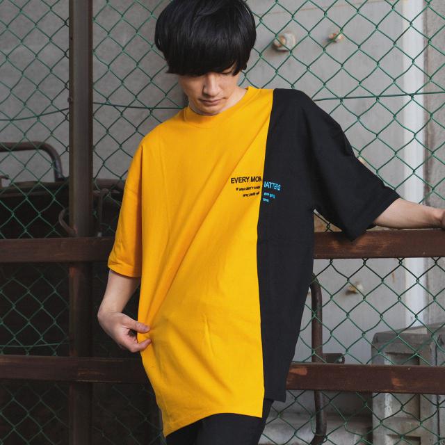 配色切替 半袖 Tシャツ(刺繍+リフレクター)|ストリートカジュアル通販RAD CHAMP