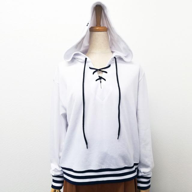 【2017秋冬新作】ミニ裏毛 ラインリブPK(フード刺繍)
