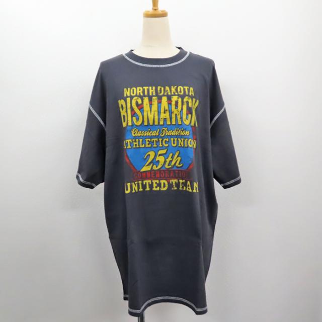 【2019春夏新作】20/-OE天竺 裏返し風デザイン BIG-Tシャツ