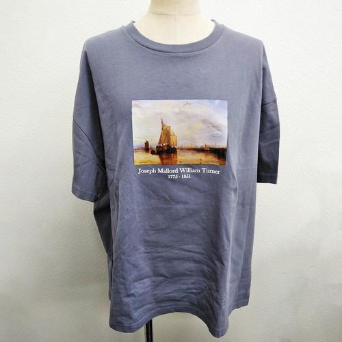【2021春夏新作】20/-天竺 ボックスTシャツ(絵画 ターナーA)|ストリートカジュアル通販RAD CHAMP