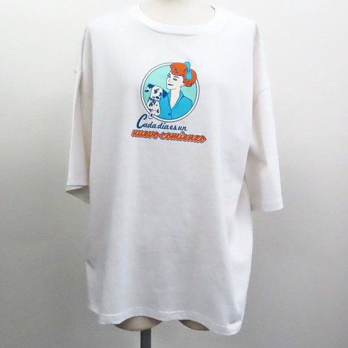 【2021春夏新作】20/-天竺 ベーシックTシャツ(レトロイラスト Girl&Dog)|ストリートカジュアル通販RAD CHAMP
