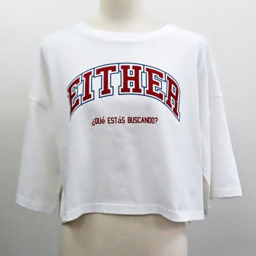 【2021春夏新作】20/-天竺 短丈Tシャツ(カレッジロゴ)|ストリートカジュアル通販RAD CHAMP