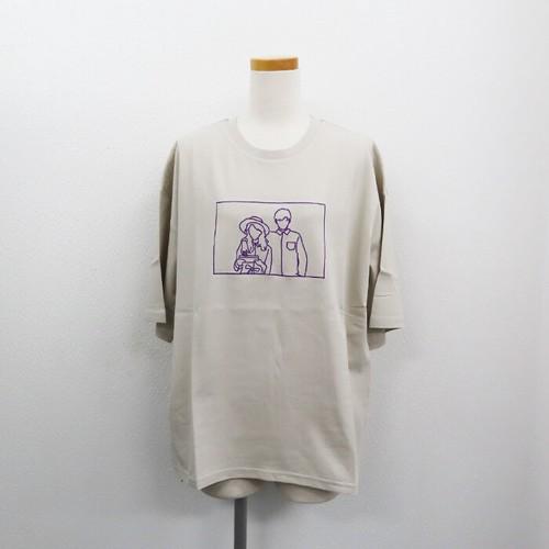 【2021春夏新作】20/-天竺 ベーシックTシャツ(線画カップルイラスト)|ストリートカジュアル通販RAD CHAMP