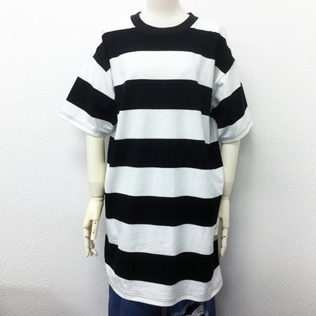 【予約販売】(4月納期)【2017春夏新作】太ボーダーロングTシャツ