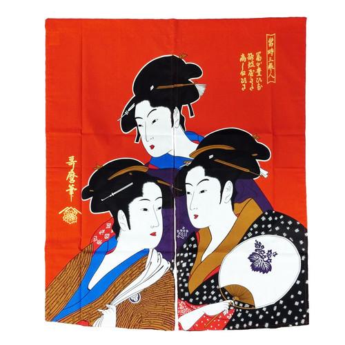 【日本製】浮世絵 のれん(三美人)|ストリートカジュアル通販RAD CHAMP
