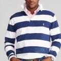 大きいサイズのラルフローレン : The Iconic Rugby Shirt [定番/ボーダー/長袖ラグビーシャツ]