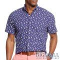 大きいサイズのラルフローレン : Oxford Short-Sleeve Shirt [キングサイズ/オックスフォード/セイルボート柄/半袖シャツ]