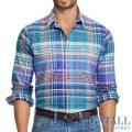 大きいサイズのラルフローレン : Classic Fit Oxford Workshirt [キングサイズ(日本の3L以上)/チェック柄/長袖シャツ]