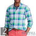 大きいサイズのラルフローレン : Classic Fit Plaid Oxford Shirt [オックスフォード/チェック/長袖シャツ]