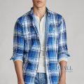大きいサイズのラルフローレン : Classic Fit Plaid Shirt [コットン2枚地/チェック/長袖シャツ]