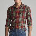 大きいサイズのラルフローレン : Classic Fit Plaid Workshirt [フランネル/肘パッチ/チェック/長袖シャツ]