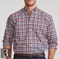 大きいサイズのラルフローレン : Plaid Poplin Shirt [キングサイズ/ポプリン/チェック/長袖シャツ]