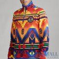 大きいサイズのラルフローレン : Southwestern Fleece Pullover [ネイティブ柄/フリースプルオーバー]