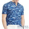 大きいサイズのラルフローレン : Featherweight Mesh Henley [/超軽量メッシュ/ハワイアン/半袖Tシャツ]