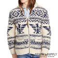 デニム&サプライ/ラルフローレン : Wool-Blend Full-Zip Sweater [ウールブレンド/ネイティブ柄/ジップセーター]