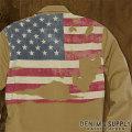 デニム&サプライ : Distressed-Flag Ward Shirt [フラッグシャツ]