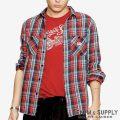 デニム&サプライ/ラルフローレン : Ward Plaid Cotton Twill Shirt [コットンツイル/チェック柄/長袖シャツ]