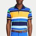 RLX ゴルフ/ラルフローレン : Custom Slim Tech Pique Polo [ややスリム/速乾/ストレッチピケ/ボーダー/半袖ポロシャツ]