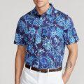 ポロ ゴルフ/ラルフローレン : Classic Fit Jersey Polo Shirt [ゆったり/柔らかジャージー/ペイズリー/半袖ポロシャツ]
