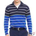 RLX ゴルフ/ラルフローレン : Striped Cotton-Blend Pullover [コットンブレンドニット/ボーダー/プルオーバー]