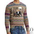 ポロラルフローレン : The Iconic Bear Isle Sweater [柔らかウールブレンド/タップダンスポロベア/セーター]