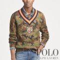 ポロラルフローレン : Camo Cotton Cricket Sweater [コットン/ケーブルニット/迷彩/タイガー/クリケットセーター]