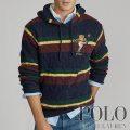 ポロラルフローレン : Kicker Bear Cable Knit Sweater [コットン/ケーブルニット/ラグビーポロベアー/フード/セーター]