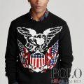 ポロラルフローレン : Eagle Wool-Cashmere Sweater [ウールカシミア/イーグル&アメリカンフラッグ/セーター]
