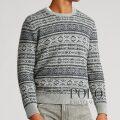ポロラルフローレン : Fair Isle Cotton-Blend Sweater [コットンカシミア/フェアアイル/セーター]