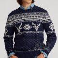 ポロラルフローレン : Snowflake Wool-Cashmere Sweater [ウールカシミア/トナカイ&スノーフレーク/セーター]