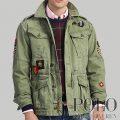 ポロラルフローレン : Herringbone Twill Jacket [コットンヘリンボーンツイル/ミリタリージャケット]